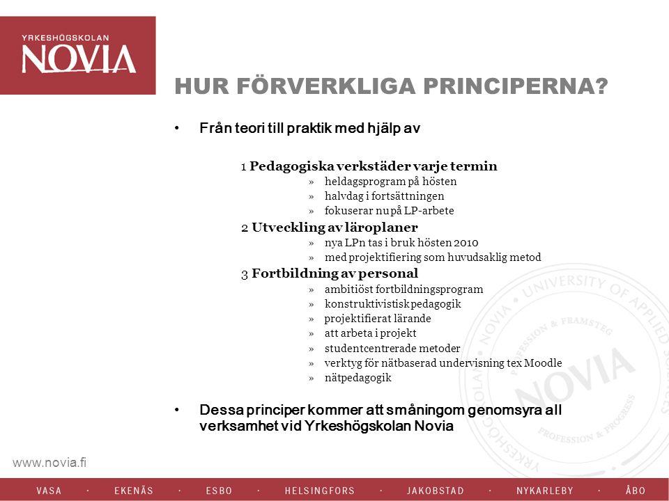 www.novia.fi HUR FÖRVERKLIGA PRINCIPERNA.