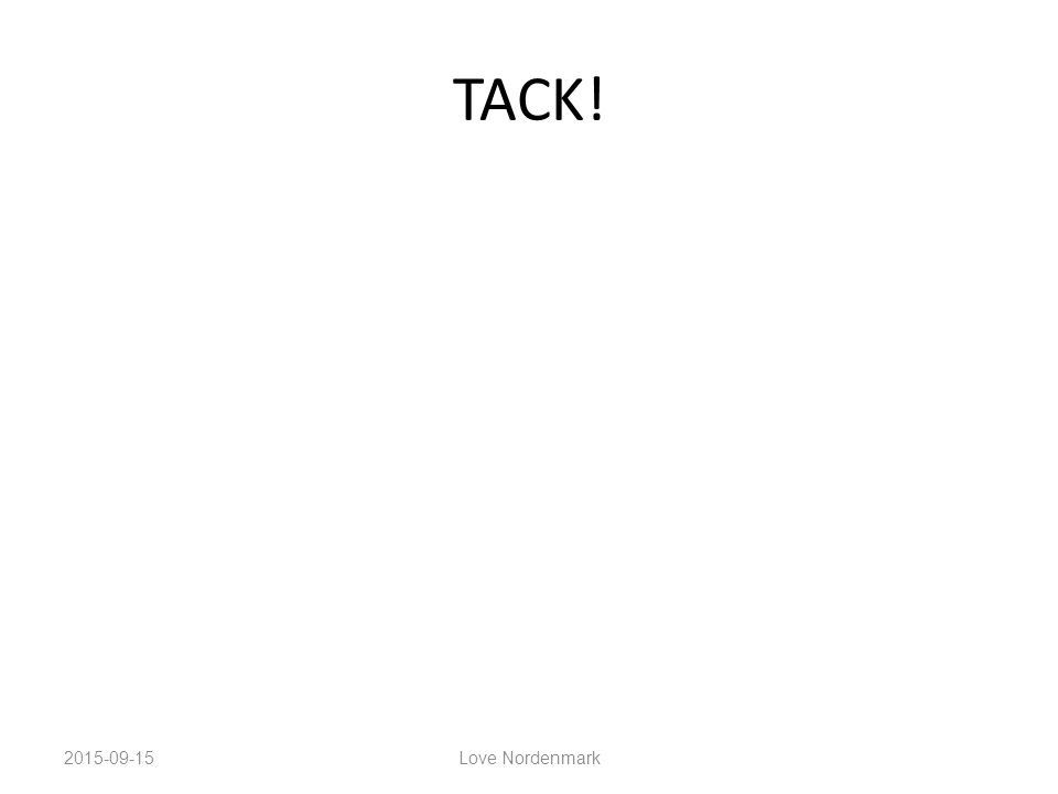 TACK! 2015-09-15Love Nordenmark