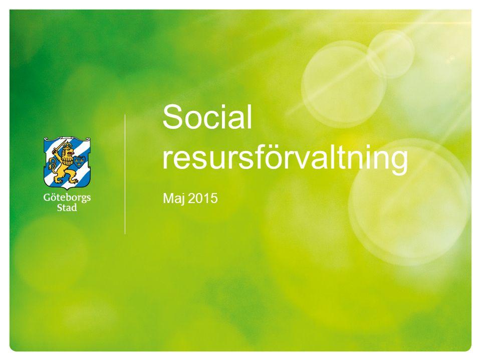 Social resursförvaltning Maj 2015