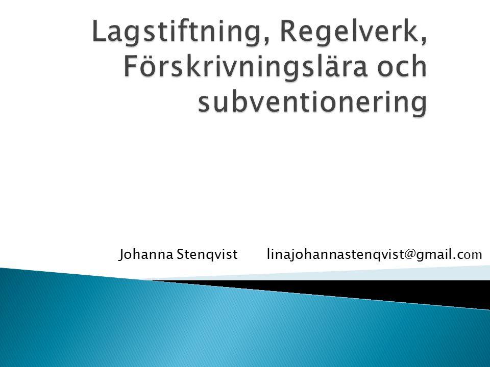Johanna Stenqvistlinajohannastenqvist@gmail.c om