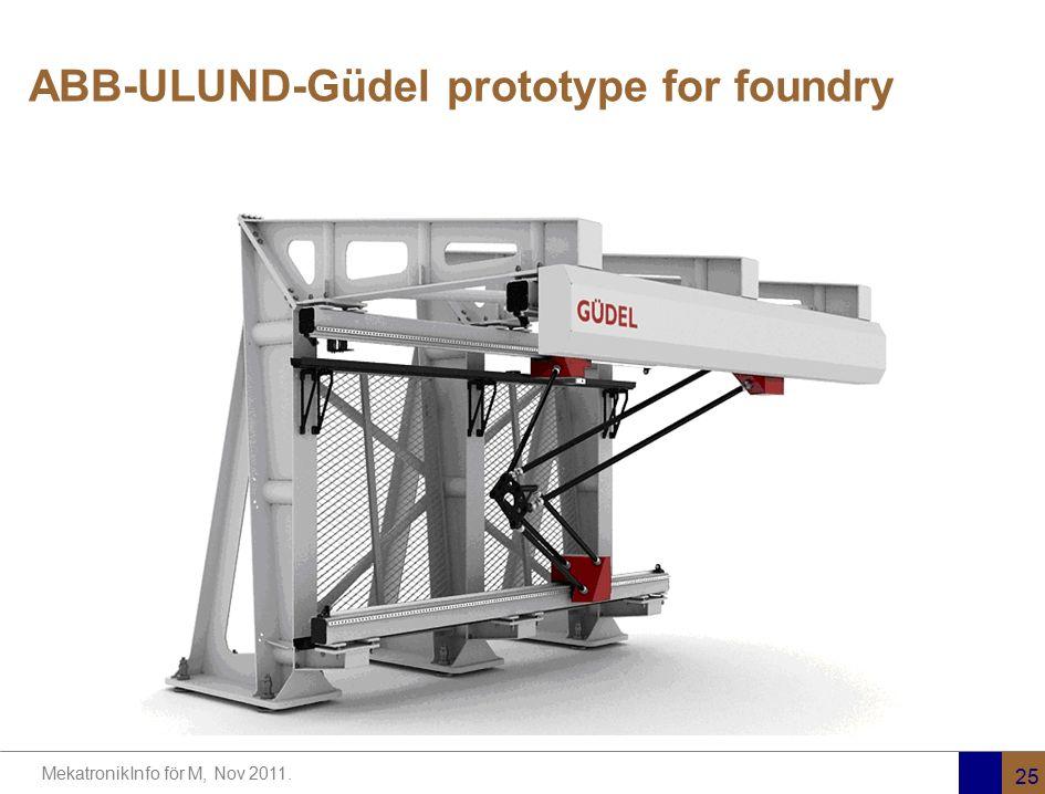 MekatronikInfo för M, Nov 2011. 25 ABB-ULUND-Güdel prototype for foundry