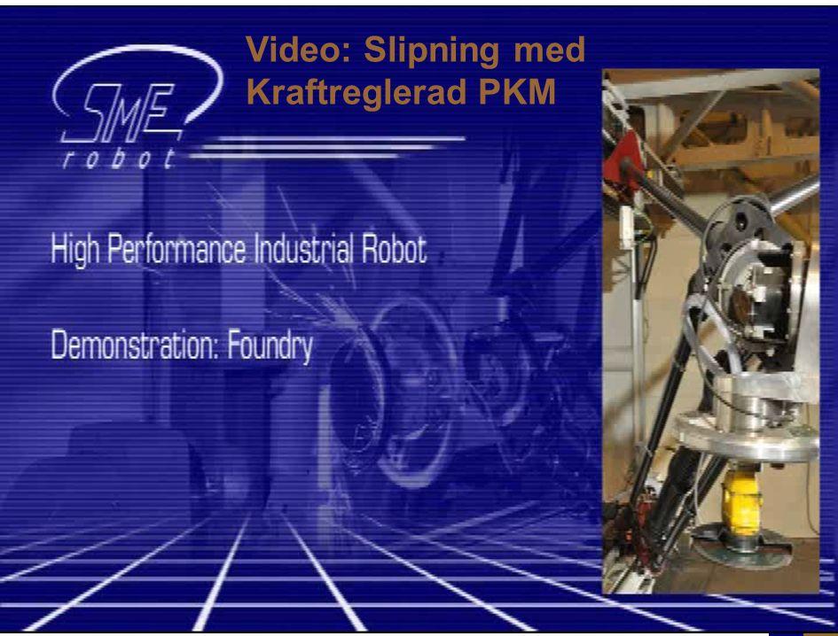 MekatronikInfo för M, Nov 2011. 2011-10-26 Klas.Nilsson@cs.LTH.se 26 ABB-Güdel-LTH Tau/PKM prototyp: Video (med förra generationens handled) Video: Sl