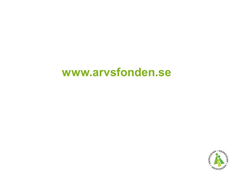 www.arvsfonden.se
