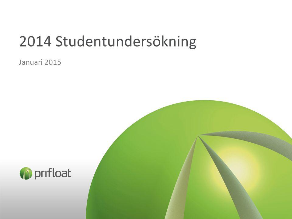2014 Studentundersökning Januari 2015