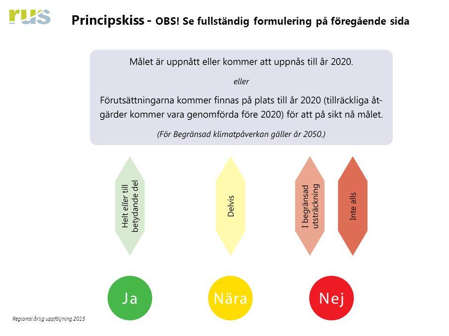 20 Regional årlig uppföljning 2015 Principskiss - OBS! Se fullständig formulering på föregående sida