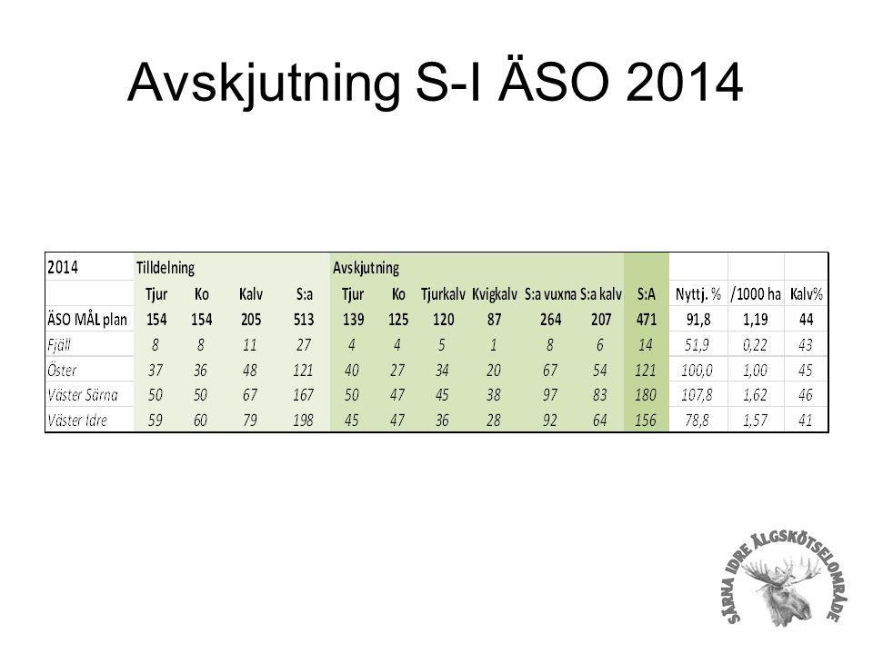 Avskjutning S-I ÄSO 2014