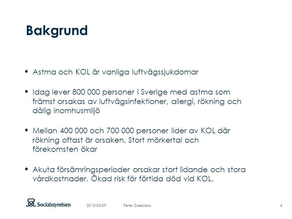Att visa fotnot, datum, sidnummer Klicka på fliken Infoga och klicka på ikonen sidhuvud/sidfot Klistra in text: Klistra in texten, klicka på ikonen (Ctrl), välj Behåll endast text Bakgrund Astma och KOL är vanliga luftvägssjukdomar Idag lever 800 000 personer i Sverige med astma som främst orsakas av luftvägsinfektioner, allergi, rökning och dålig inomhusmiljö Mellan 400 000 och 700 000 personer lider av KOL där rökning oftast är orsaken.