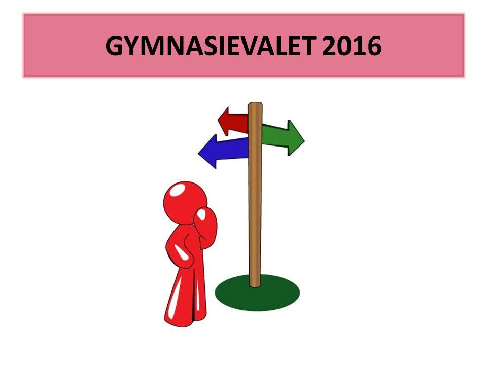 GYMNASIEVALET 2016