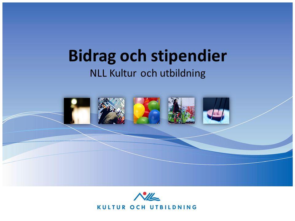 Bidrag och stipendier NLL Kultur och utbildning