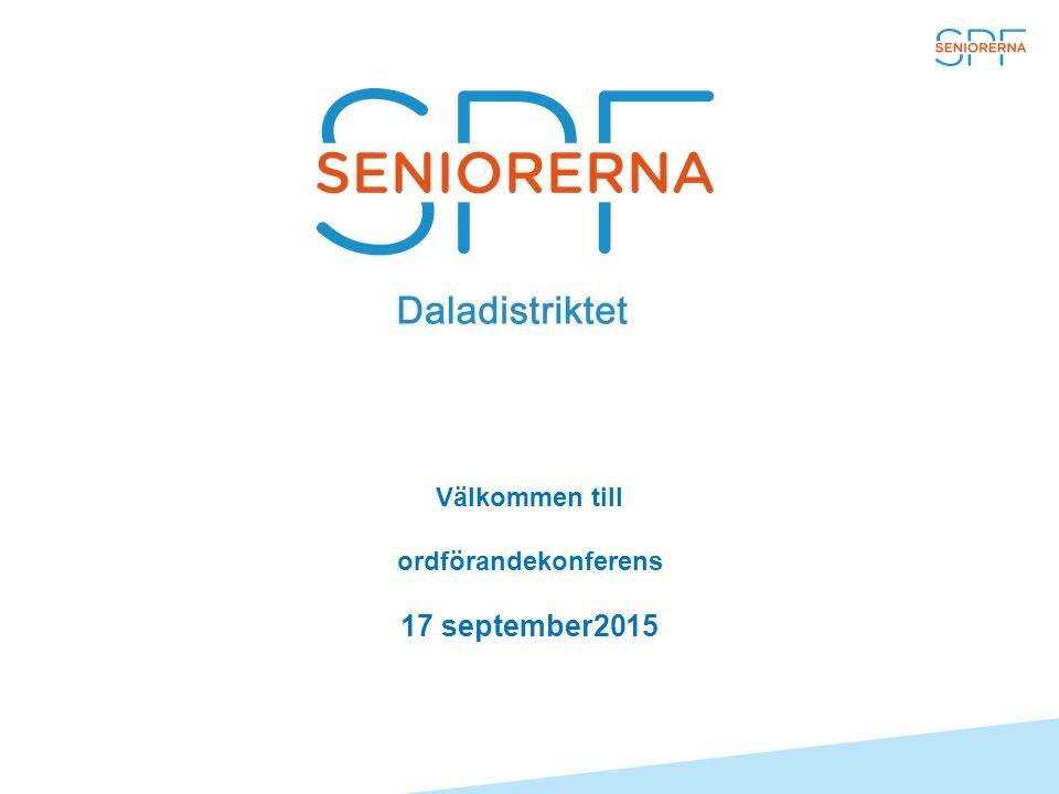 Välkommen till ordförandekonferens 17 september2015