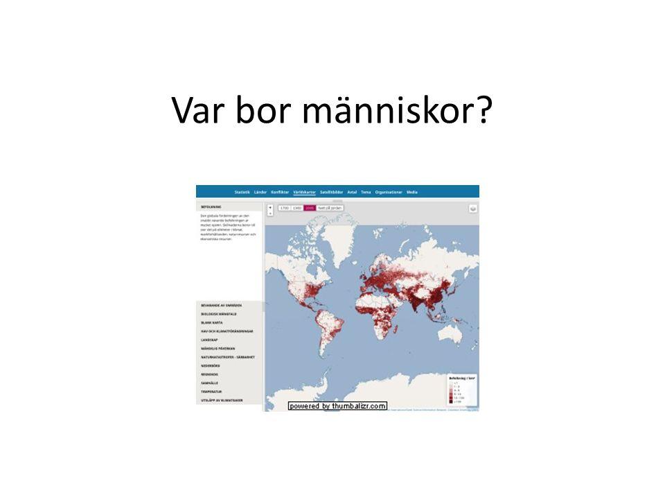 Var bor människor?