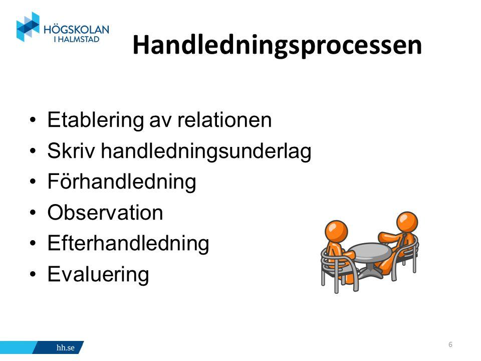 Handledning sker Strukturerat Utbildad handledare I en pedagogisk process Den handledde är huvudpersonen I grupp eller individuellt under en viss tid (4 månader-2 år) 7