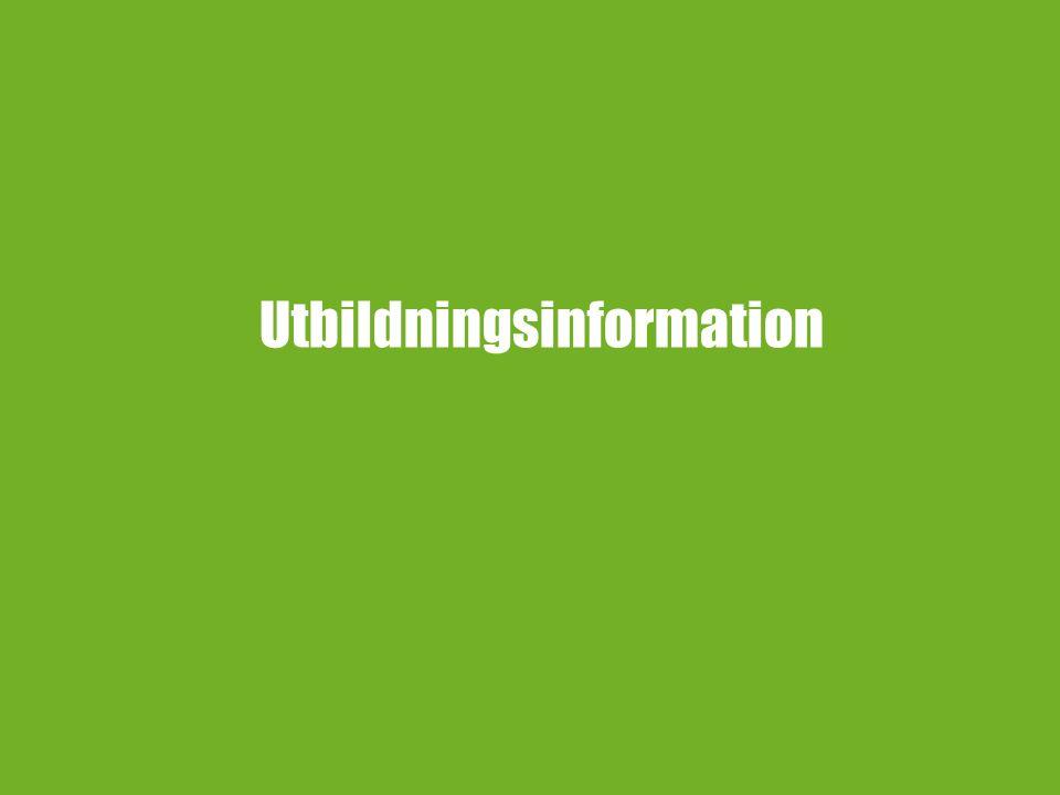 Utbildningsinformation