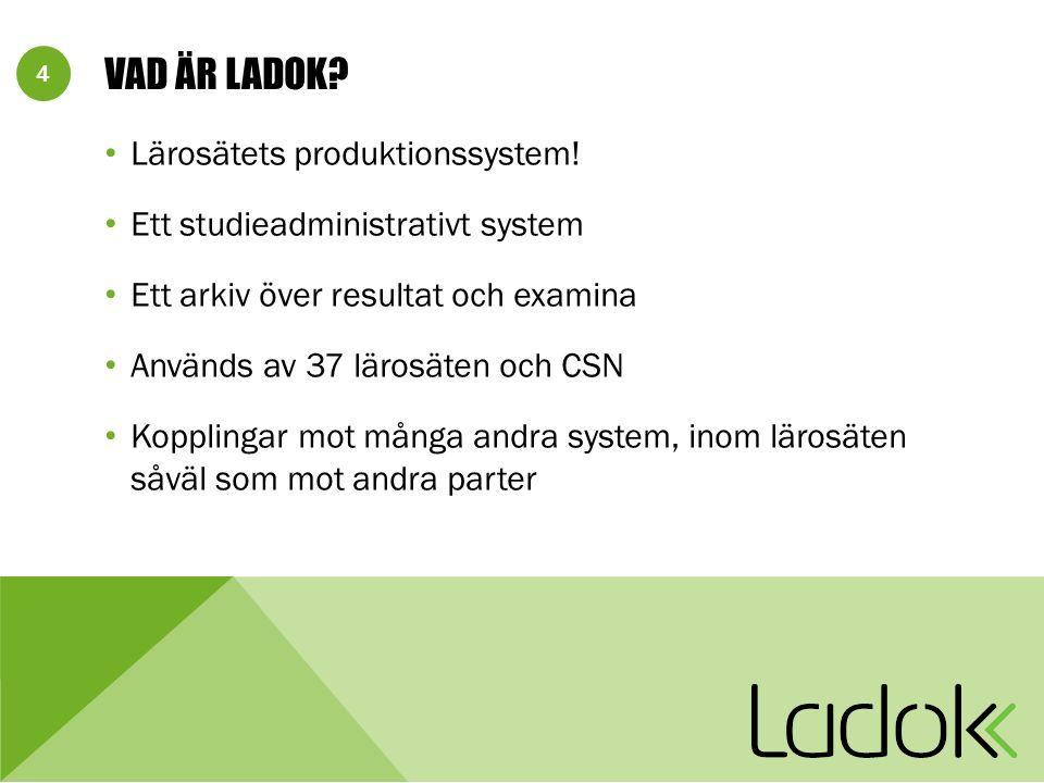 4 VAD ÄR LADOK. Lärosätets produktionssystem.