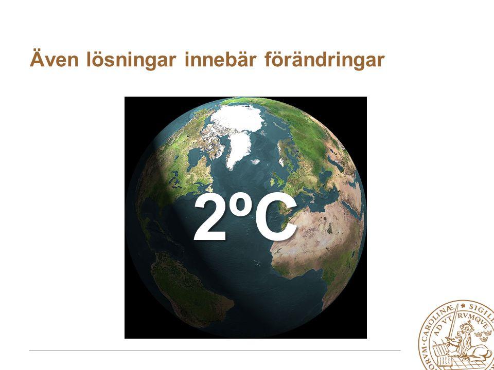 MERGE for GAC 19-20 May 2010 2ºC2ºC2ºC2ºC Även lösningar innebär förändringar