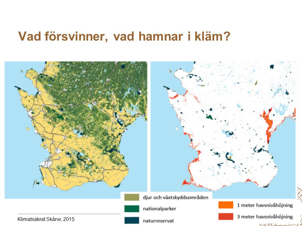 MERGE for GAC 19-20 May 2010 Vad försvinner, vad hamnar i kläm? Klimatsäkrat Skåne, 2015