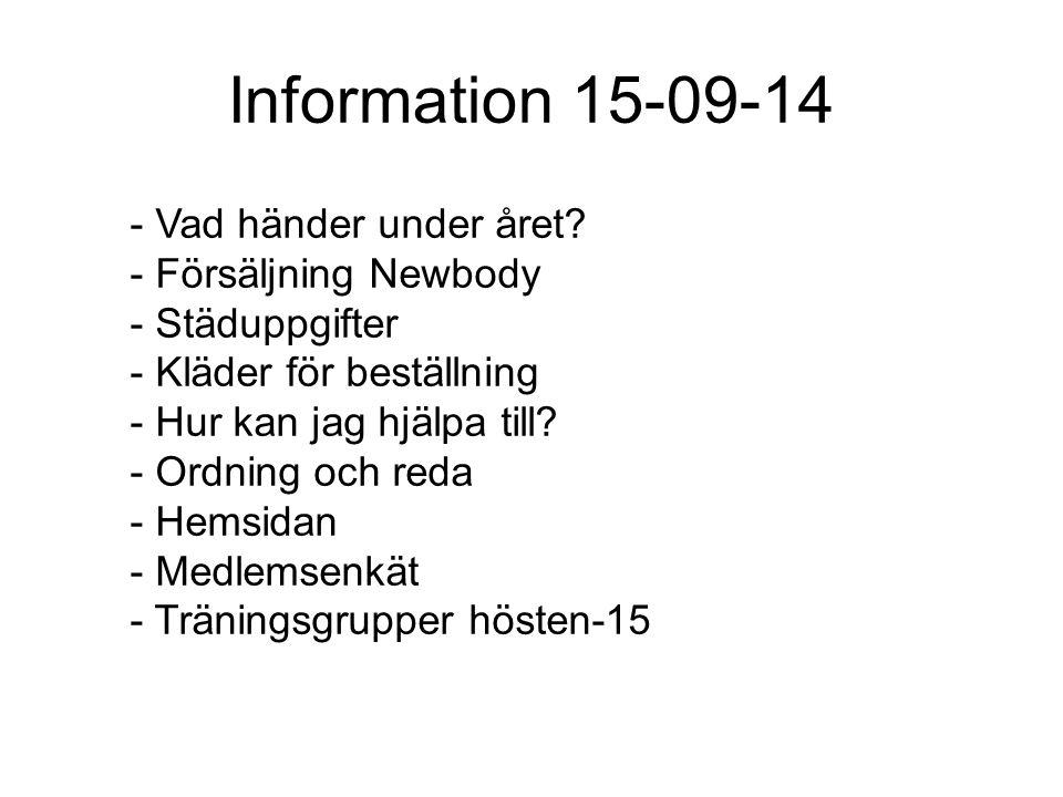 Information 15-09-14 - Vad händer under året.