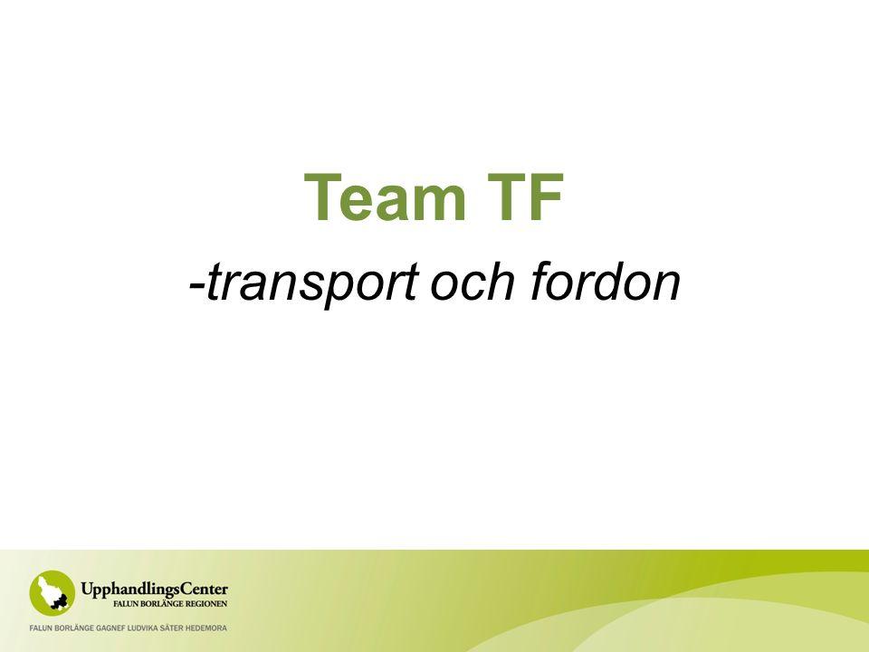 Team TF -transport och fordon