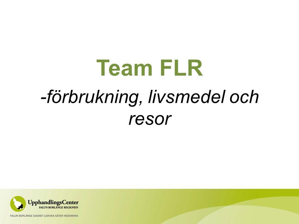 Team FLR -förbrukning, livsmedel och resor