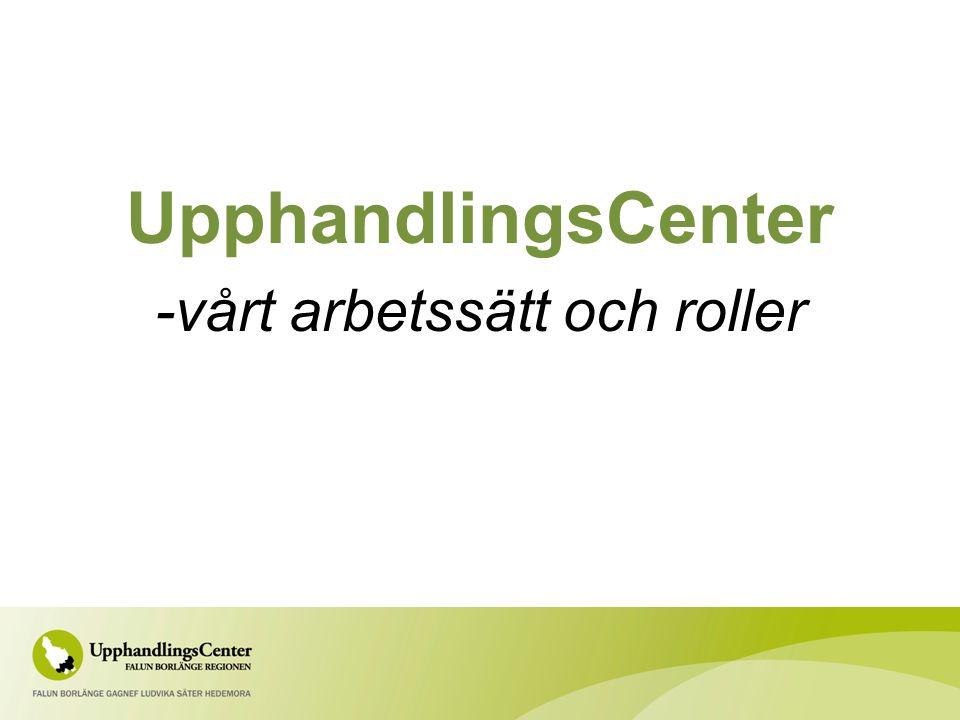 UpphandlingsCenter -vårt arbetssätt och roller