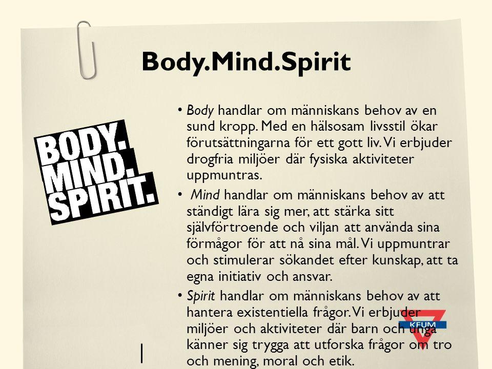Body.Mind.Spirit Body handlar om människans behov av en sund kropp. Med en hälsosam livsstil ökar förutsättningarna för ett gott liv. Vi erbjuder drog