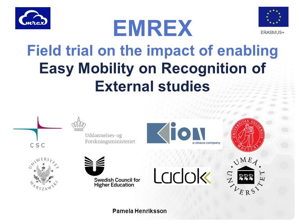 ERASMUS+ EMREX-projektet Säker överföring av studentdata mellan lärosäten i olika länder.