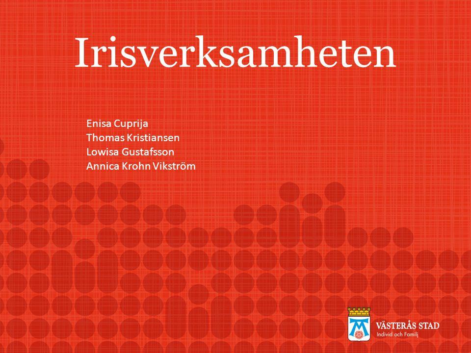 Irisverksamheten Enisa Cuprija Thomas Kristiansen Lowisa Gustafsson Annica Krohn Vikström