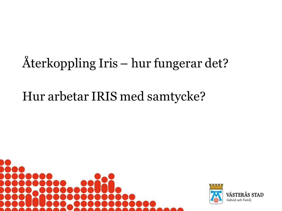 Återkoppling Iris – hur fungerar det? Hur arbetar IRIS med samtycke?