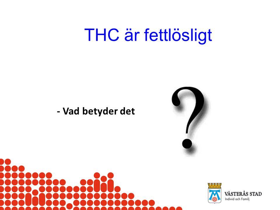 THC är fettlösligt - Vad betyder det
