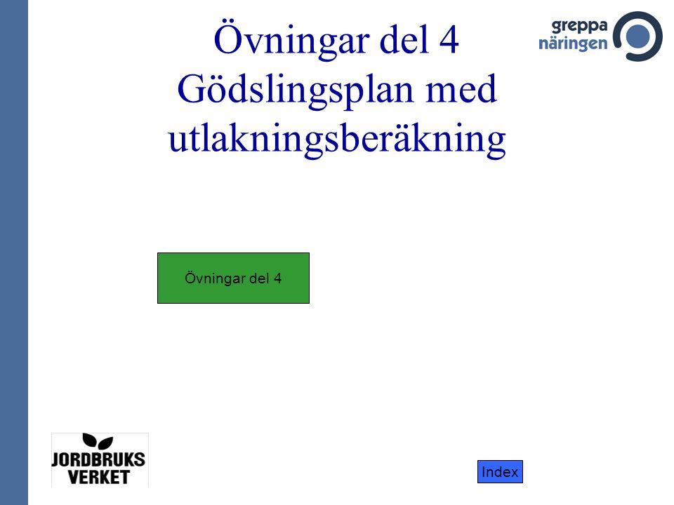 Övningar del 4 Gödslingsplan med utlakningsberäkning Övningar del 4