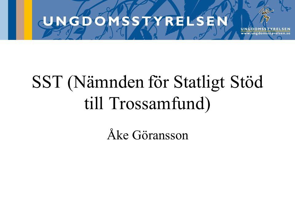 SST (Nämnden för Statligt Stöd till Trossamfund) Åke Göransson