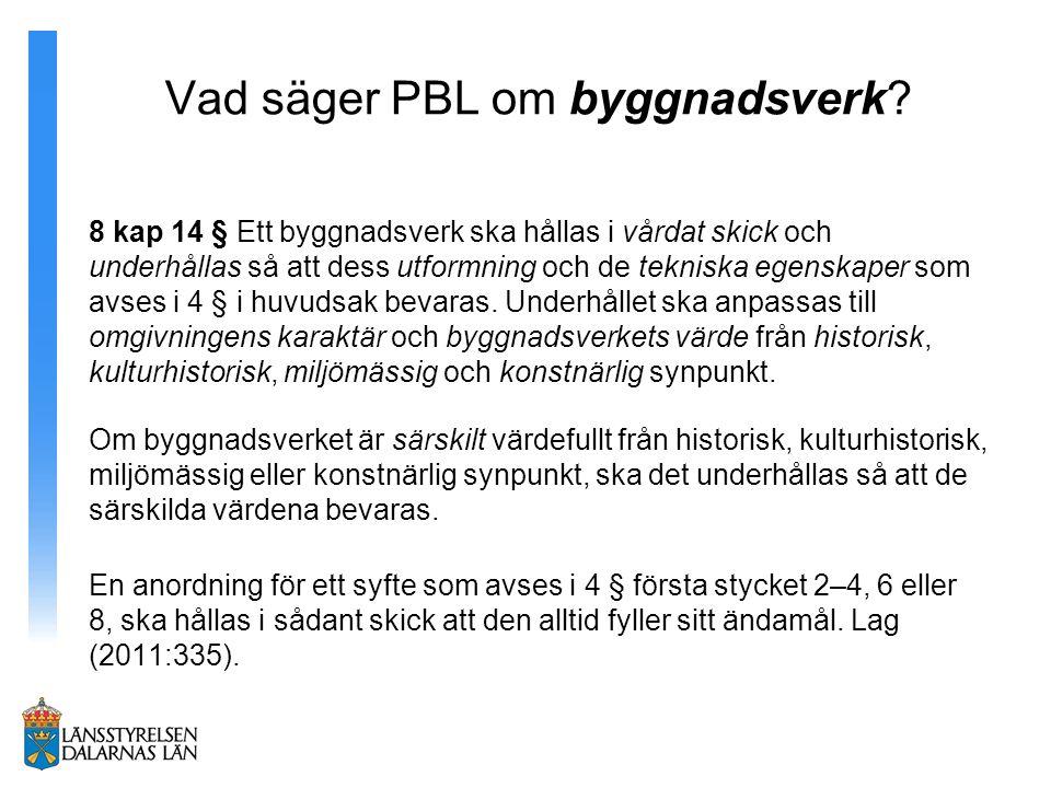 Vad säger PBL om byggnadsverk.