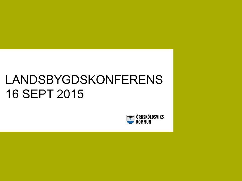 LANDSBYGDSKONFERENS 16 SEPT 2015