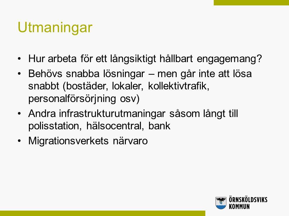 Utmaningar Hur arbeta för ett långsiktigt hållbart engagemang.