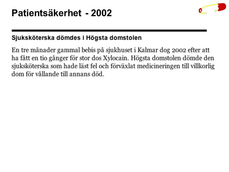 Patientsäkerhet - 2002