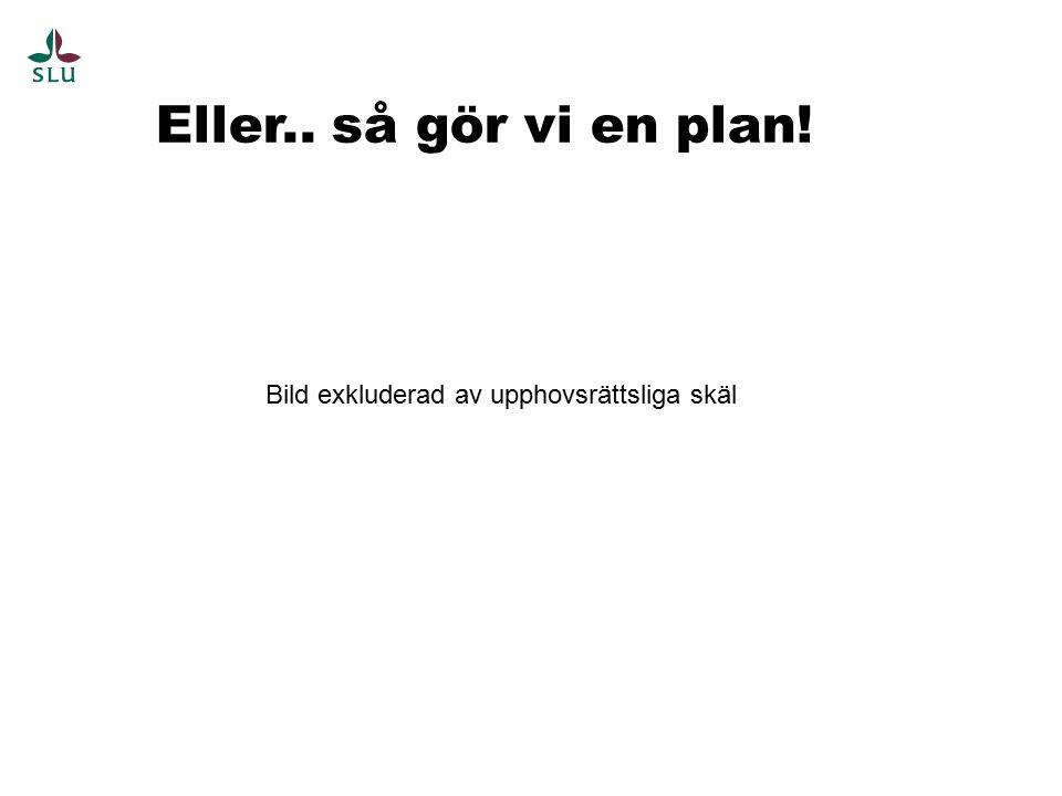 Eller.. så gör vi en plan! Bild exkluderad av upphovsrättsliga skäl