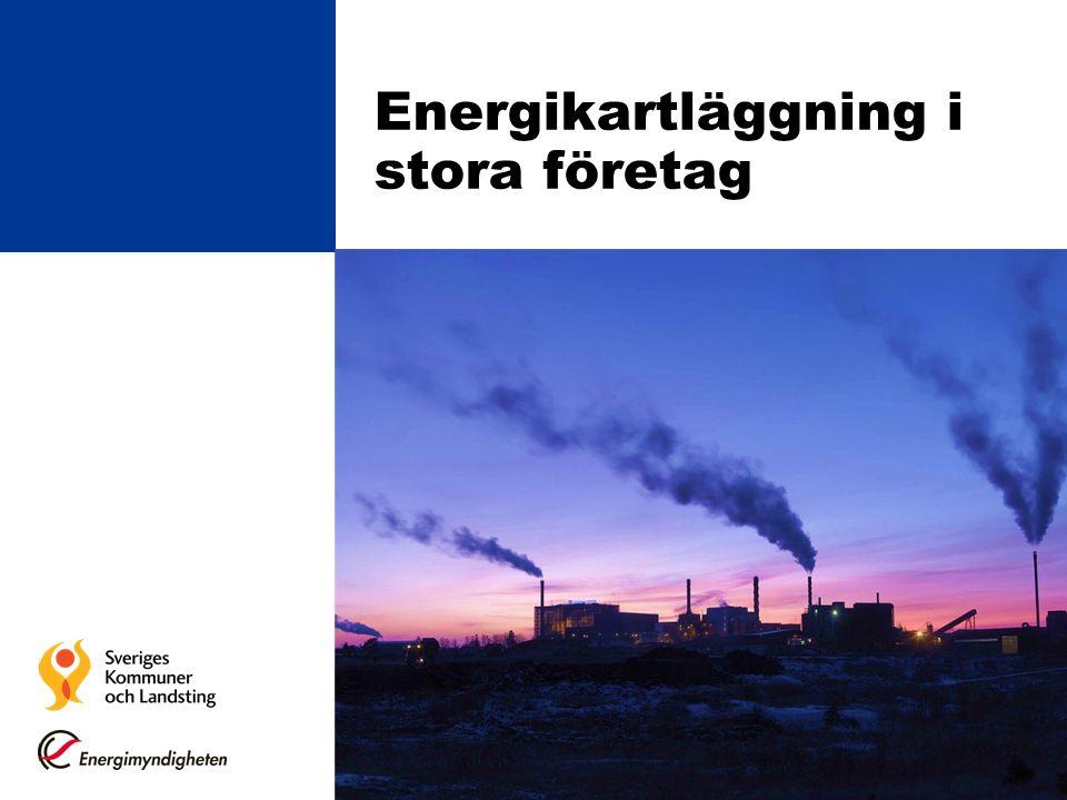 Energimyndighetens föreskrifter STEMFS 2014:2 Fastställer hur energikartläggningen skall genomföras: Certifierade energi- och miljölednings- system Certifiering av person som får genomföra energikartläggningar Kompetenskrav Genomförande och rapportering