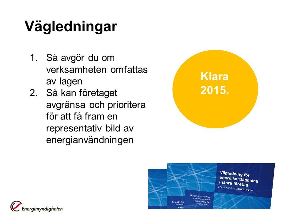 Vägledningar 1.Så avgör du om verksamheten omfattas av lagen 2.Så kan företaget avgränsa och prioritera för att få fram en representativ bild av energ