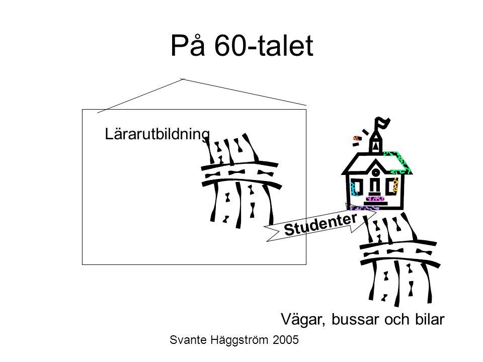 Svante Häggström 2005 På 60-talet Lärarutbildning Studenter Vägar, bussar och bilar