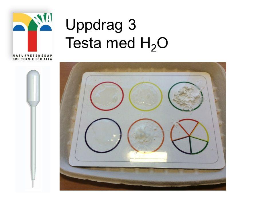 Uppdrag 3 Testa med H 2 O