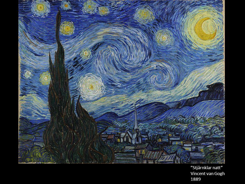 Stjärnklar natt Vincent van Gogh 1889