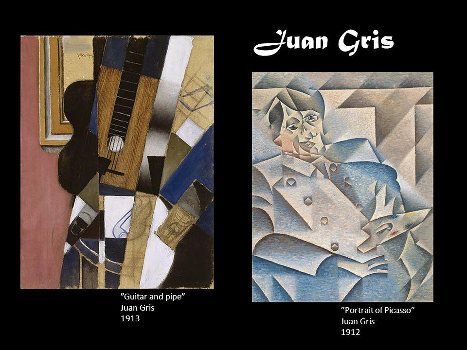 Juan Gris Guitar and pipe Juan Gris 1913 Portrait of Picasso Juan Gris 1912
