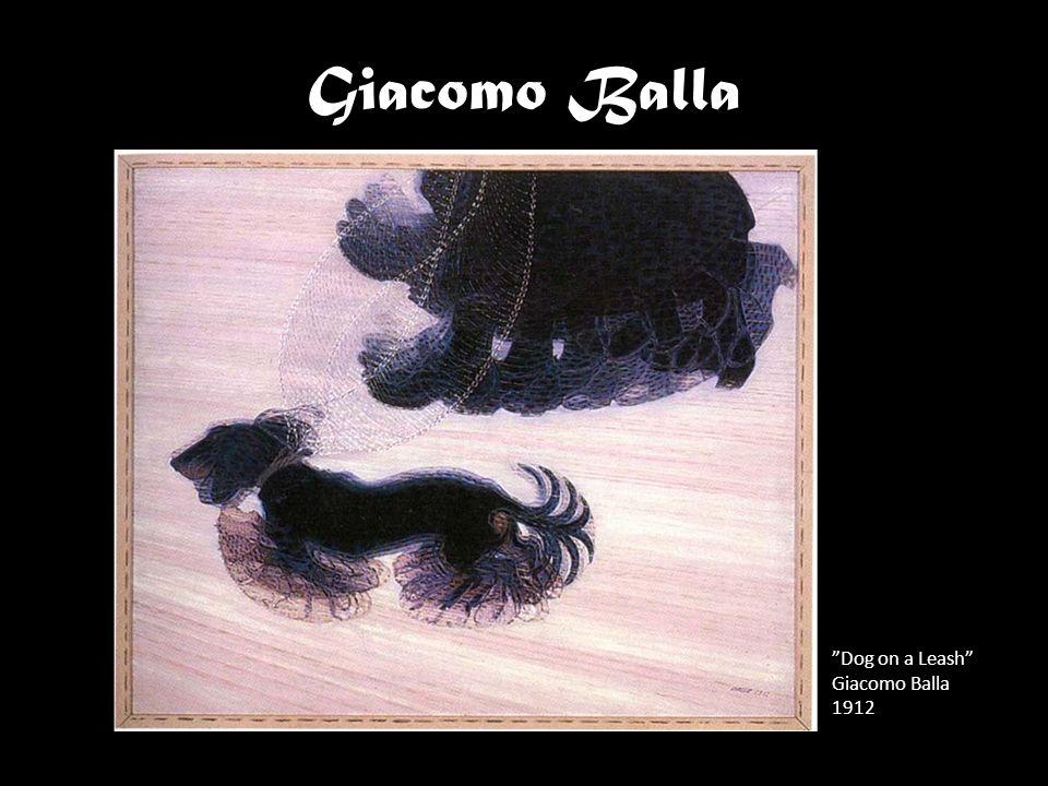 """""""Dog on a Leash"""" Giacomo Balla 1912 Giacomo Balla"""