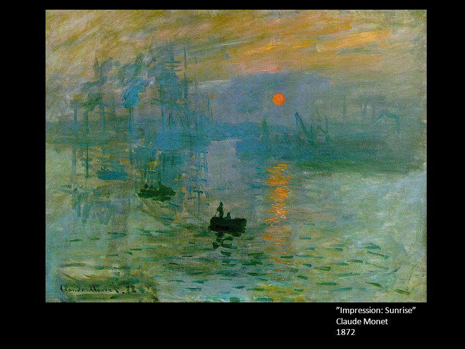 """""""Impression: Sunrise"""" Claude Monet 1872"""