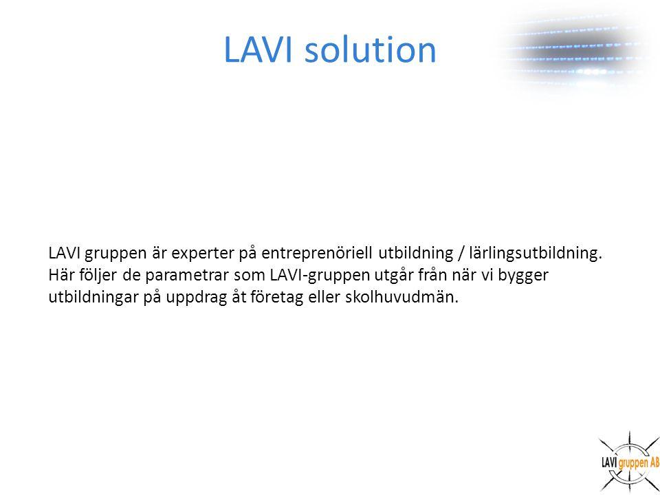 LAVI gruppen är experter på entreprenöriell utbildning / lärlingsutbildning.