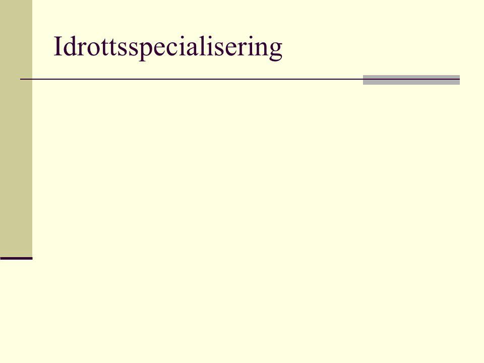 Idrottsspecialisering