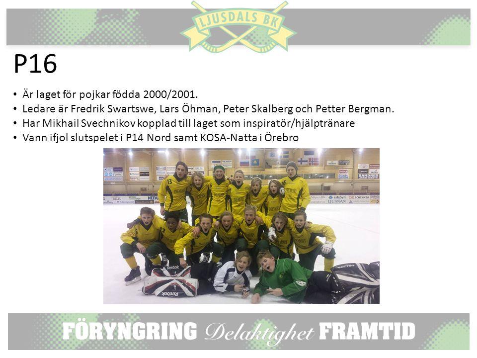 P16 Är laget för pojkar födda 2000/2001.