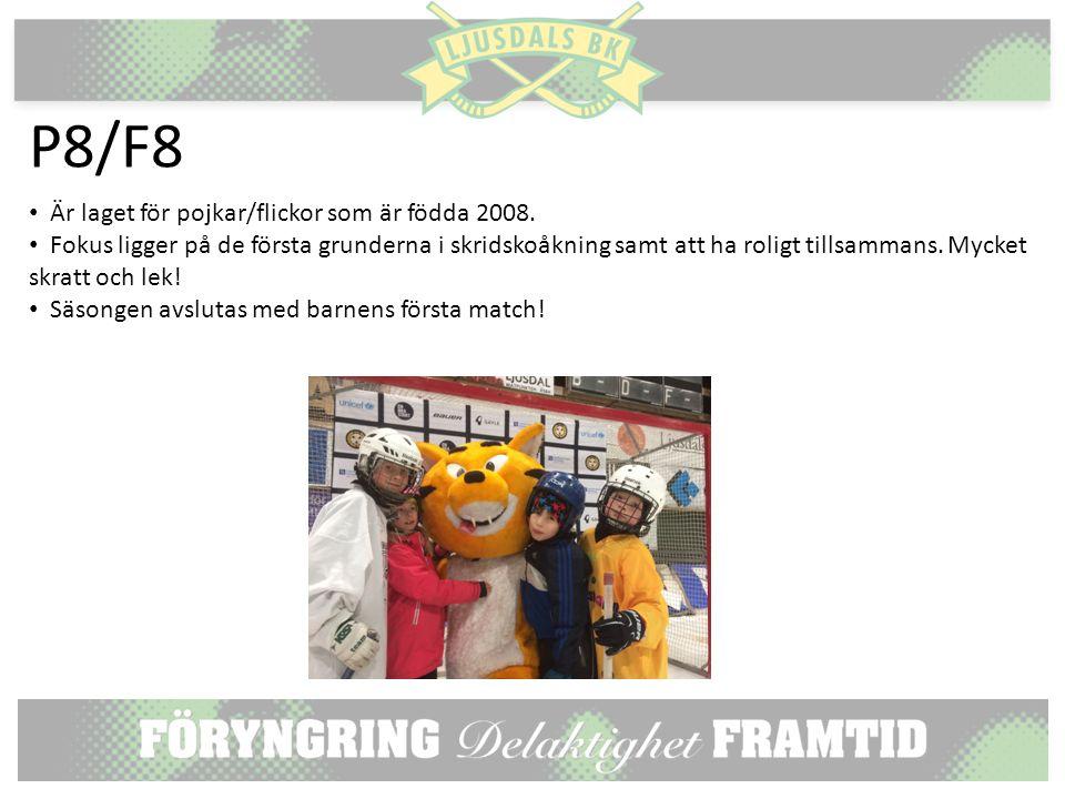 P8/F8 Är laget för pojkar/flickor som är födda 2008.