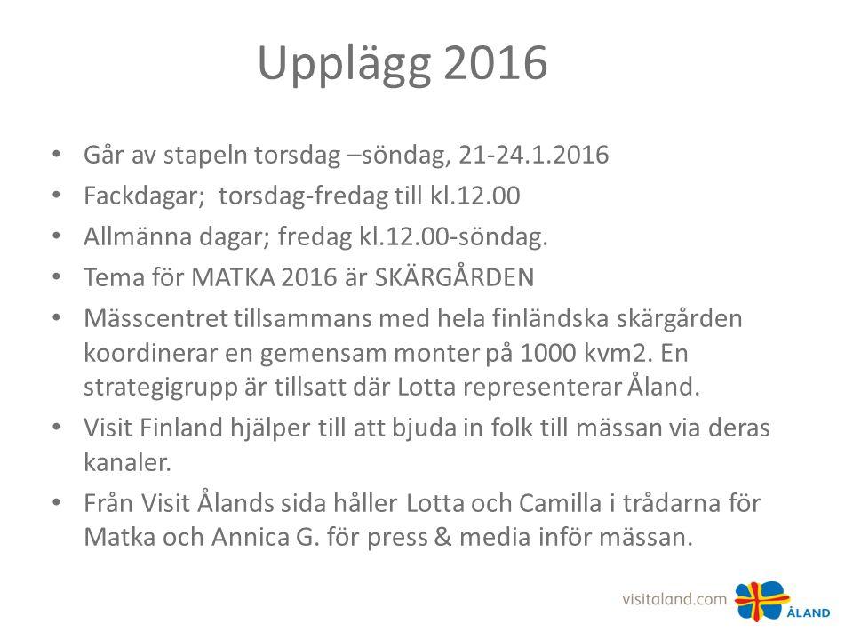 Upplägg 2016 Går av stapeln torsdag –söndag, 21-24.1.2016 Fackdagar; torsdag-fredag till kl.12.00 Allmänna dagar; fredag kl.12.00-söndag.