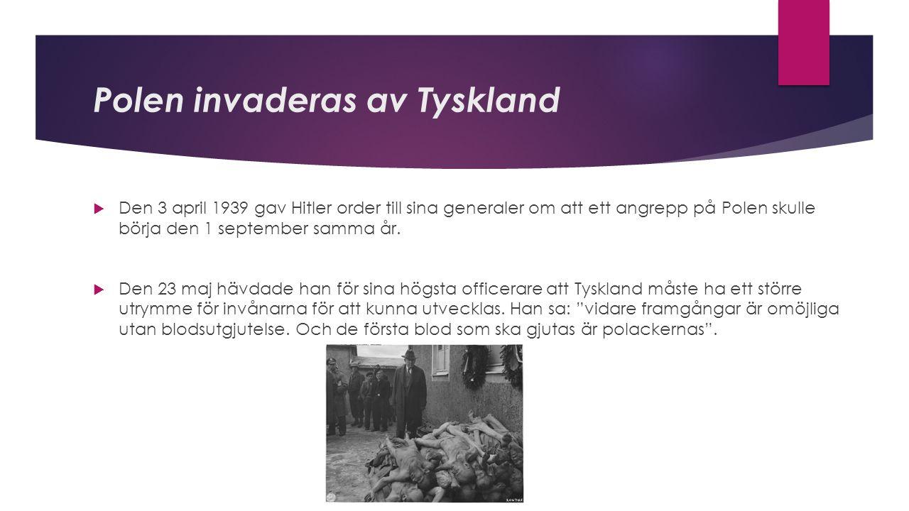 Molotov- Ribbentroppaketen  Egentligen var Hitler och Stalin varandras dödsfiender.